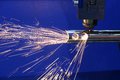 The CNC fiber laser cutting machine Royalty Free Stock Photo