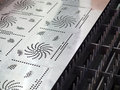Cnc gas cutting metal sheet high precision Royalty Free Stock Images