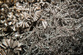 CNC steel shavings Stock Photo