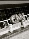 Cnn center in atlanta georgia a white and black photography of the cable news network sign Royalty Free Stock Images