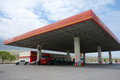 Cnpc gas station china national petrolem corporation in xinjiang china Royalty Free Stock Images