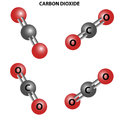 CO2 Carbon dioxide molecule. Chemical Structure.Four views Royalty Free Stock Photo