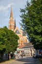 The co cathedral of st peter and st paul in osijek croatia june croatia Royalty Free Stock Image