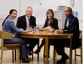 Co-workers having meeting in conference room Royalty Free Stock Photo