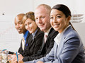 Co-workers listening during meeting Royalty Free Stock Photo