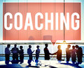 Coach coaching skills teach teaching training concept Royalty Free Stock Photos