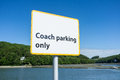 Coach parking only a sign indicating that Royalty Free Stock Photo