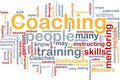 Coaching background concept Stock Photography