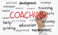 Coaching business concept image of a hand holding marker and write doodle Stock Image