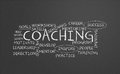 Coaching chalkboard Stock Photography