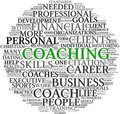 Coaching concept in tag cloud Stock Photo