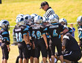 Coaching Little League Football Royalty Free Stock Images