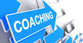 Coaching - Message on the Blue Cursor. 3D.