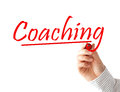 Coaching text isolated on white background Stock Images