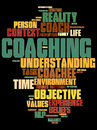Coaching word cloud about environment Stock Photography