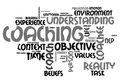 Coaching word cloud about environment Royalty Free Stock Images