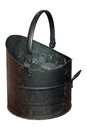 Coal Bucket Worn and Scratched Royalty Free Stock Photo