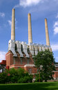Coal burning power plant Royalty Free Stock Photos