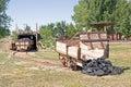 Coal Carts Royalty Free Stock Photo