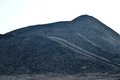 Coal dunes at mining Royalty Free Stock Photos