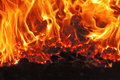 Coal fire Royalty Free Stock Photo