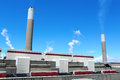 Coal fired electric power station Stock Photography