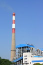 Coal fired power plant and the blue sky Stock Image