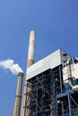 Coal fired power plant and the blue sky Stock Images