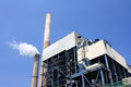 Coal fired power plant and the blue sky Royalty Free Stock Photos