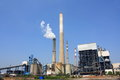Coal fired power plant and the blue sky Royalty Free Stock Photography