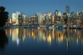 Coal Harbor, Evening Twilight, Vancouver Royalty Free Stock Photo