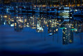 Coal Harbor Night Glitter, Vancouver Royalty Free Stock Photo