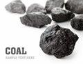 Coal Lumps Royalty Free Stock Photo