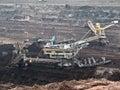 Coal mine with a Bucket-wheel excavator Royalty Free Stock Photo