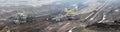 Coal  mine with bucket wheel excavator Royalty Free Stock Photo
