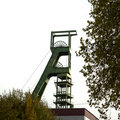 Coal mine headgear tower Stock Images