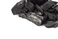 Coal mineral stone background isolated on white Royalty Free Stock Photo