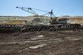 Coal mining basin Kolubara in Serbia Royalty Free Stock Photo