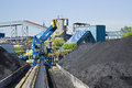 Coal mining loader in open cast mine Stock Images