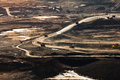 Coal mining in open pit Royalty Free Stock Photo