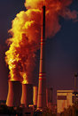 Coal power plant and pollution Royalty Free Stock Photo
