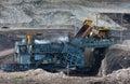 Coal preparation plant big mining truck at work site coal tran transportation Royalty Free Stock Photos