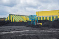 Coal shipment processing factory producing coking Stock Image