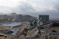 Coal washing facility Royalty Free Stock Photo