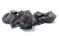 Coal on white background Stock Images