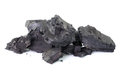 Coal on white background Royalty Free Stock Photo