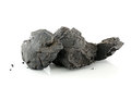 Coal on white background isolated Stock Photo