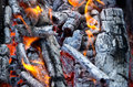 Coals and fire Royalty Free Stock Photo