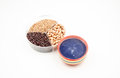 Coarse food grain grain:red rice red beans and peanuts Stock Photography
