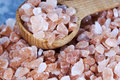 Coarse Himalayan Pink Salt Spoon Royalty Free Stock Photo